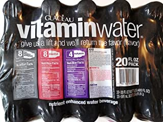 Glaceau Vitamin Water Variety Pack, 20-Ounce (Pack of 20)