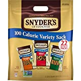 Snyder's of Hanover Pretzels, Variety Pack of 100 Calorie Individual Packs, 22 Ct, Pack of 4