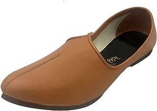 Step n Style Mens Jalsa Shoes Indian Shoes Punjabi Jutti Nagra Sherwani Casual Shoes