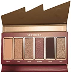 Ultra-pigmented palette of six eyeshadows in three different finishes: matte, metallic, and glitter Day-to-night looks with this shadow palette. Easy to blend creamy formula gives a high-pigment payoff. Practical mini format can be taken with you eve...
