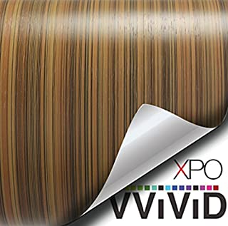VViViD Striped Maple Wood Grain Faux Finish Textured Vinyl Wrap Film for Home Office Furniture DIY Easy to Install No Mess 1 Foot x 48 Inches