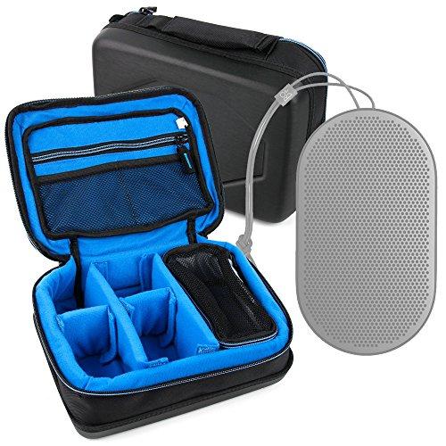 DURAGADGET Bolsa Acolchada Profesional Negra con Compartimentos para Altavoces Nokia MD-12 /...