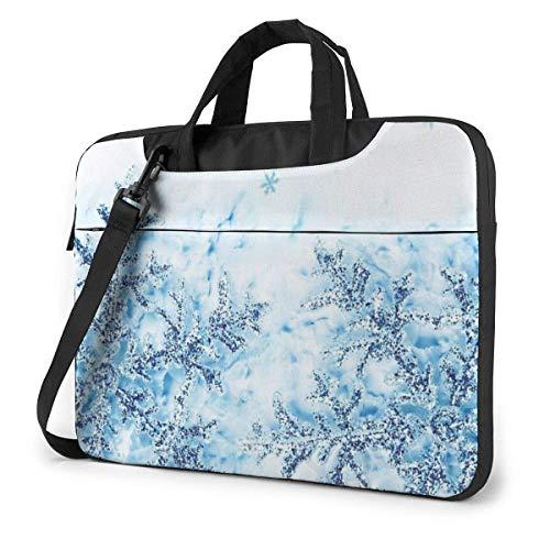 XCNGG Shockproof Laptop Bag Winter Snowflake Shoulder Messenger Bag Slim Briefcase for Men Women Tablet Carry Handbag for Business Trip Office 13 14 15.6 Inch