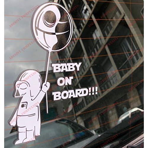 Adesivo Star Wars baby Darth Vader on board per auto Guerre Stellari (Darth Vader)