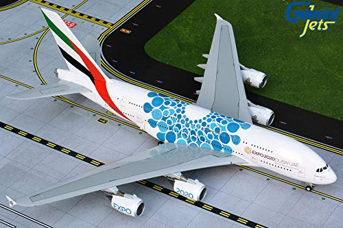 GeminiJets GEMG20779 1:200 Emirates Airbus A380-800 Reg #A6-EOC 'Blue Expo 2020' (pre-Painted/pre-Built)