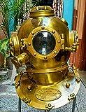Retro Collectible Buceo Boston Diving Divers Casco 18' US Mark V Latón Acabado Antiguo