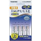 TOSHIBA 充電式IMPULSE 充電器セット 単3形・単4形兼用モデル 単3形充電池(min.2,400mAh)4本付き TNHC-34AH