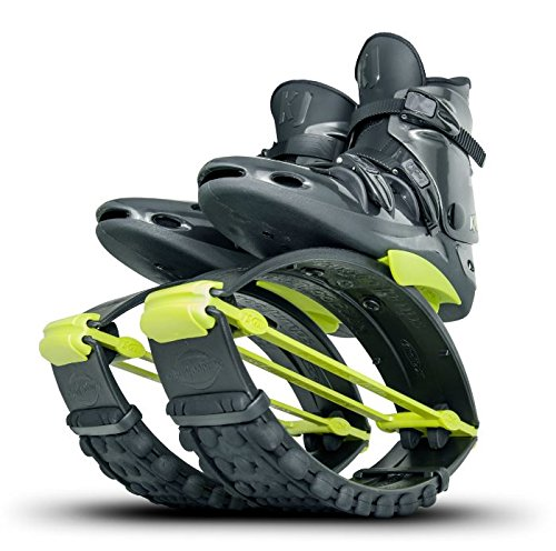 KangooJumps Kangoo Jumps equipaggiato con Forti Shell e Una Molla di trazione PRO-7.Questo Modello è Adatto per Atleti estremi e per utenti con Peso Superiore a 200 libbre. Donna, Black Yellow, S