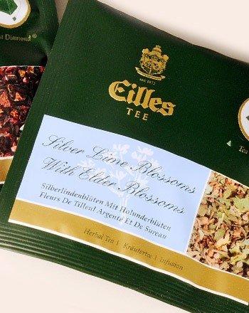 Tea Diamonds einzelverpackt Silberlindenblüten mit Holunderblüten 150 Box