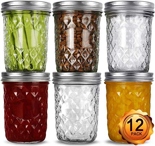 Wide Mouth Mason Jars 16oz (12 Pack)