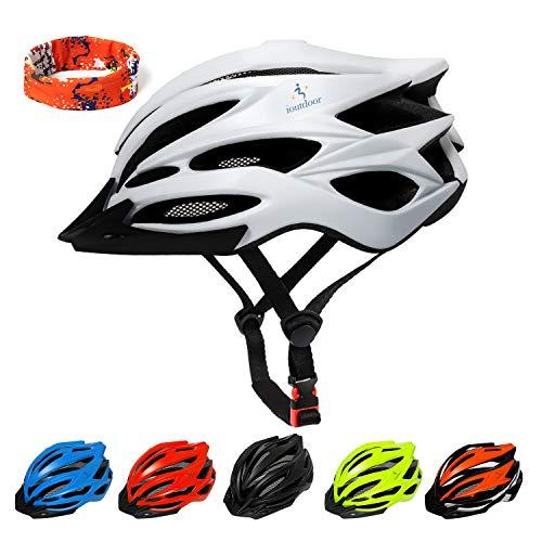ioutdoor Casco da Bici Premium, Certificato CE CPSC, Casco da Bici con Visiera Solare Rimovibile e...