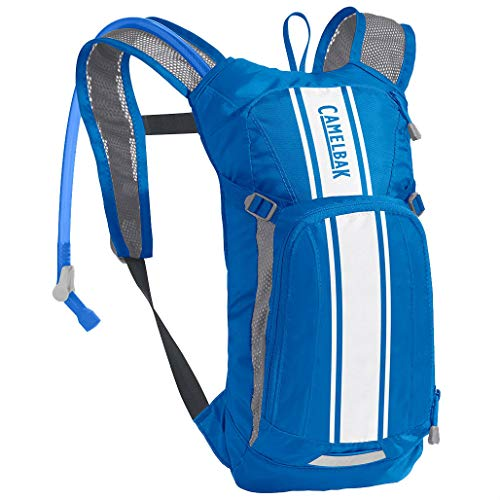 CAMELBAK Mini Mule Hydration Pack 1.5L - White/Blue/Kid Children Child Boy Girl Youth Backpack Rucksack Hydrate Bag School Water Drink Reservoir Bladder Tank Cycling Cycle Mountain Bike Riding Ride