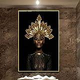 ganlanshu Pintura sin Marco Mujer Africana Abstracta en...