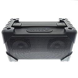 top rated Vivitar V143BT-BLK Bluetooth Retro Boombox Speaker, Black 2021