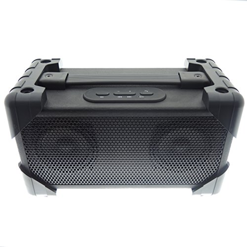 Vivitar V143BT-BLK Bluetooth Retro Boom Box Speaker, Black