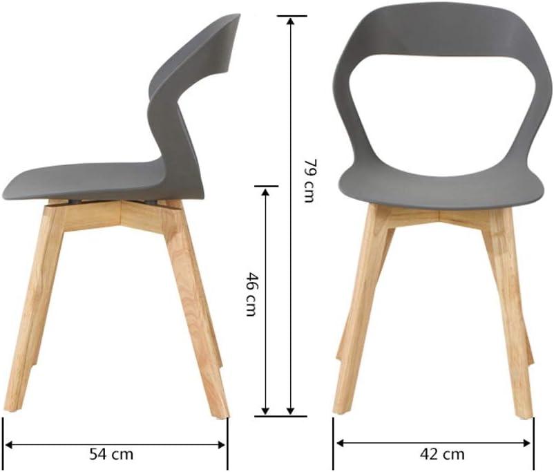 Chaise en Bois Massif Nordique Maison Informatique Moderne Minimaliste Fauteuil Lazy Chambre Président Creative (Color : E) B