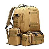 50L Wasserbeutel Rucksack, Herren Militärrucksack, 4 in 1 Taktische Sporttasche, Outdoor Trekking Armee Rucksack Campingtasche