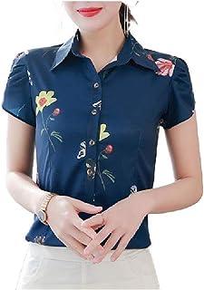 Winwinus Women's Slim Casual Printed T Shirts Office Blouse Top