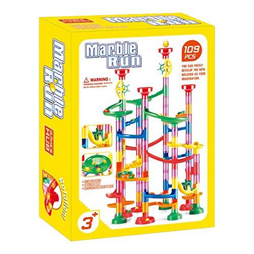 VIDOO 105/109Pcs DIY BAU Rennen Lauf Orbit Maze Bälle Track Gebäude Trendige Pädagogische Spielzeug Kinder Spielzeug - 109 Pcs