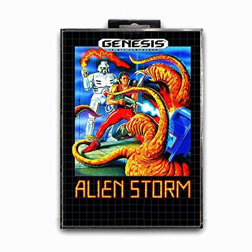 Jhana Alien Storm avec boîte pour carte de jeu Sega 16 bits MD pour Mega Drive pour console vidéo Genesis