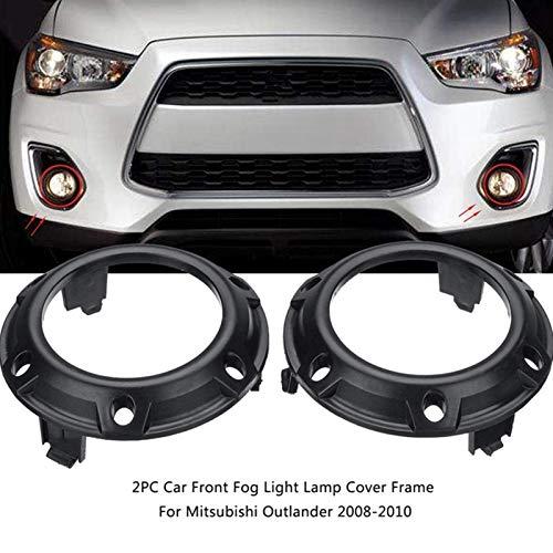 N\A Scheinwerferglas, Rahmen schwarz ABS-Hülle 1 Paar Auto-Front-Nebelscheinwerferlampe for 2008 2009 2010 8321A289 8321A290 (Farbe : Black)