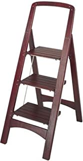 COSCO 11255MGY1 Three Step Rockford Wood Step Stool, Classic wood design coordinates well with home decorate, Large steps provide comfort and security, Folds flat for easy storage Safety, II Medium Household Duty Rating 225 lbs