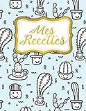 Mes Recettes: Cahier De Recettes à Remplir pour Passionné de Cuisine