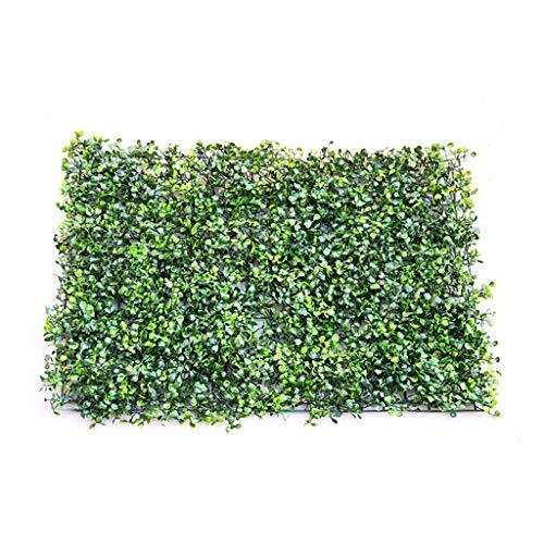 PING- Künstliche Grün Buchsbaum Hecke Panels Mailänder Heckenwand, PE Dark Encryption Tape Tie Schneiden Und Biegen Ummauerte Gartenzaundekoration 60x40cm / Stück (Color : Dense, Size : 4pack)