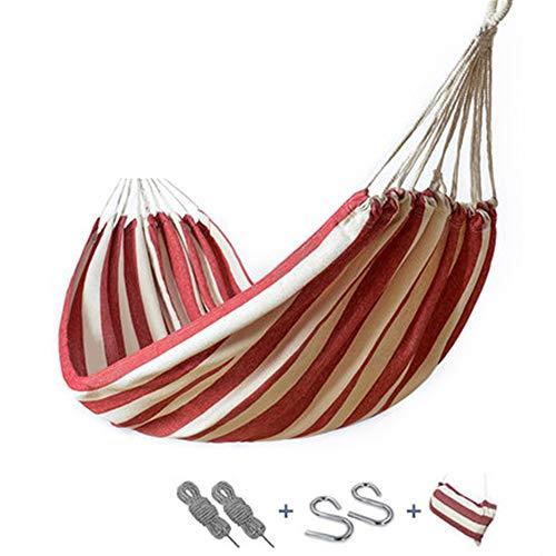 XFSD 200 * 100 cm Outdoor Freizeit Single Thick Canvas, tragbarer Aufbewahrungsrucksack, Camping Schaukelstuhl, Anti-Rollover-Design, verwendet für Rucksack Garten, Garten, Wandern und Reisen