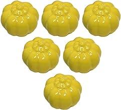 6 stks Moderne Kast Lade Kast Trek Handvat Keuken Kast Handvat Deur Dressoir Knoppen, Pompoen Keramische Knoppen Meubelgrepen