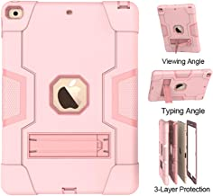 New iPad 10.2 2019 Case,UZER Heavy Duty Shockproof Anti-Slip Silicone High Impact Resistant Hybrid Three Layer Armor Protective Case Cover with Kickstand for iPad 10.2 inch 7th Generation (2019 Model)