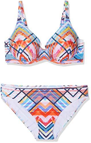 Olympia Damen Friends Bikini-Set, Mehrfarbig (Multicolor 99), 75D (Herstellergröße:38D)