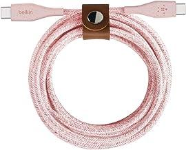 Belkin cable USB-c a USB-C con correa Boost Charge (cable USB-C resistente para MacBook, iPad Pro, Samsung Galaxy, Pixel y...