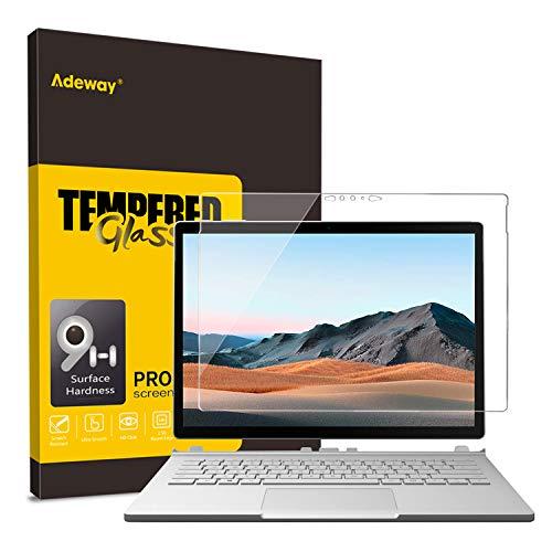 Protector de pantalla de vidrio Adeway Surface Book 3/ Surface Book 2 15 pulgadas, vidrio templado/instalación de ensayo/alta sensibilidad/dureza 9H / HD transparente