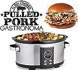 Gastronoma 18280000 Digitaler Pulled Pork Slow Cooker Schongarer