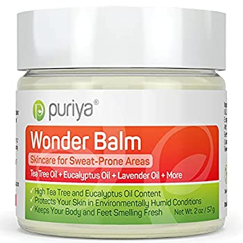 Tea Tree Oil Balm Fast Acting Comfort for Sweat-Prone Skin Areas Doctor Approved Extra Strength for Athletes Itchy Foot Groin and Body Feel Protected Smell Fresh All Day Wonder Balm by Puriya