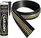 Garadry 1 ¼' High Garage Door Threshold Seal Kit (10'3') | Black/Yellow, Vinyl | Complete Kit,...