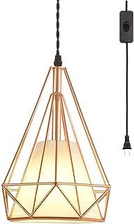 geometric lampshade pendant