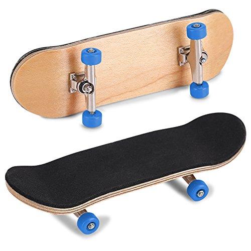 Wallfire Mini Holz Griffbretter 1 PC Ahorn Holz + Legierung DIY Griffbrett Finger Skateboards mit Aufbewahrungsbox Am Besten Reduzieren Druck Geschenk für Familien Freunde
