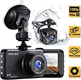 [Upgrade Lens] Dash Cams for Cars Front and Rear Full HD 1080P Backup