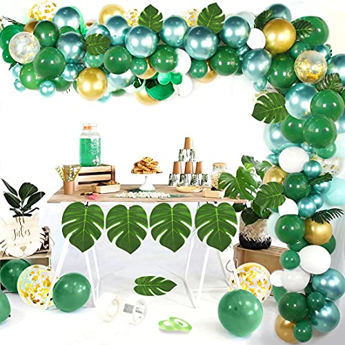 Globos Verdes, Látex Verde, Selva Globos Fiesta de Cumpleaños,Baby Shower, Cumpleaños, Bodas, Fiestas Tropicales, Decoración Fiesta Con Tema Safari En Jungla