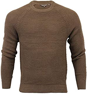 Crosshatch Mens Waffle Jumper Knitted Cotton Sweater Pullover Top KERMER Winter