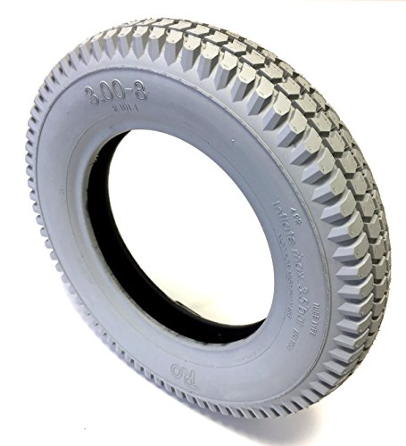 CST Neumáticos para silla de ruedas 3.00-8, 4PR, grises, perfil de bloque fuerte, construcción de neumáticos estable, para silla de ruedas eléctrica, scooter, silla de ruedas eléctrica