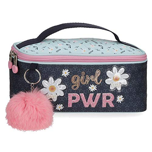 Neceser Enso Girl Power, 22x10x10 cm, Azul