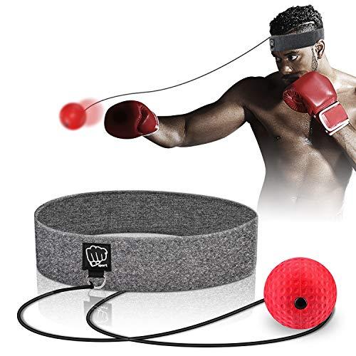 SYOSIN Boxen Reflex Ball Mit verstellbarem Stirnband Boxen Training Speedball Boxen Reaktionstraining MMA Auge-Hand-koordinationstraining, Einfach Zu Bedienen Für Kinder/Erwachsene