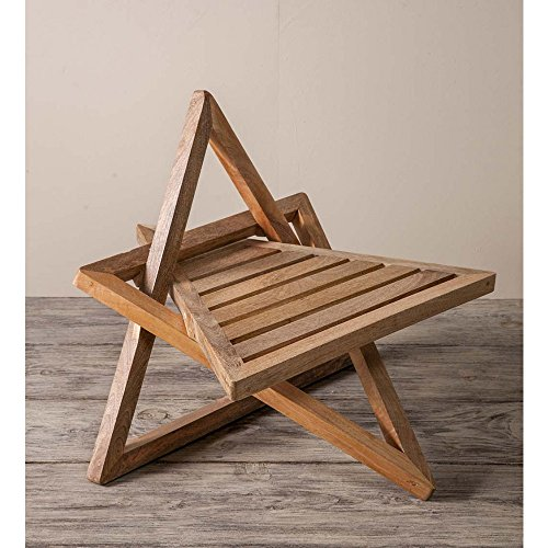 Vivaterra Mango Wood Meditation Chair - 23 L x 27 W x 27 H