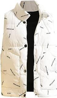 Rosatro Men's Solid Autumn Winter Sleeveless Jacket Casual Zipper Warm Vest Coat