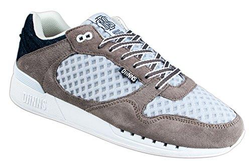 Djinns Schuhe EASYRUN MESH and Denim Unisex Shoes Grey, US 12 EU 46 UK 11