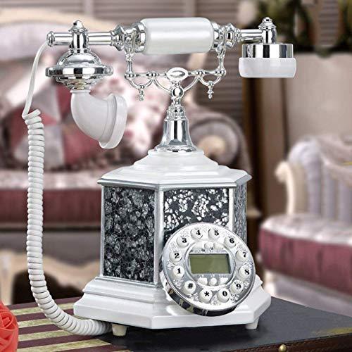 Dirgee Teléfono Antiguo, Oficina/Moderna Sala de Estar Minimalista / 25x21x29cm Teléfono de teléfono Celular de línea Fija (Color # 2) (Color : #1)