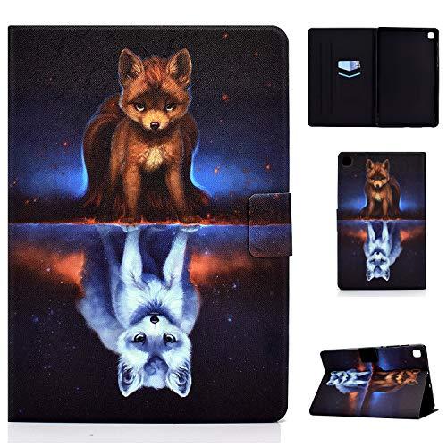 Tedtik Hülle für Samsung Galaxy Tab S6 Lite 10,4 Zoll (P610 / P615) 2020 - Ultra Slim Smart Magnetic Rücken, PU-Leder, Multi-Angle Front Support Cover, Fuchs